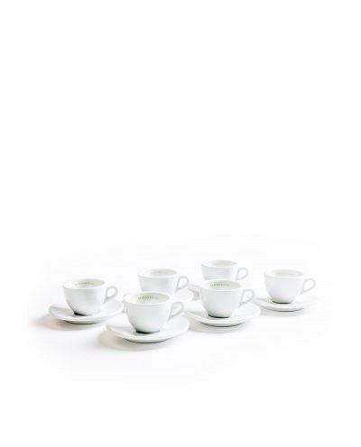 Mehrere Espressotassen Unterteller Porzellan