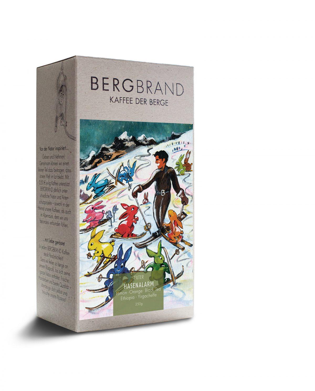 Etikett Bergbrand Filterkaffee Hasenalarm