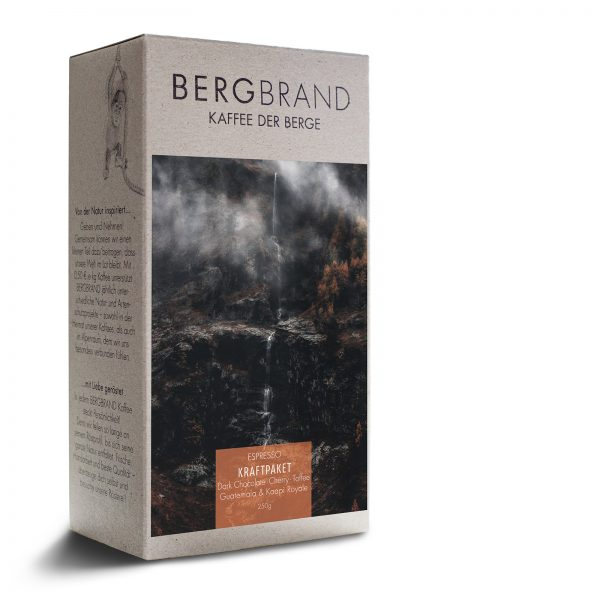 Etikett Bergbrand Espresso Kraftpaket