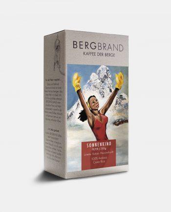 Etikett Bergbrand Filterkaffee Sonnenkind