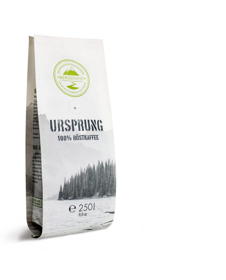 Tüte Bergbrand Espresso Ursprung 250g