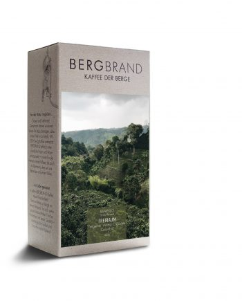 Etikett Bergbrand Espresso Freiraum