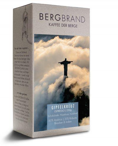Etikett Bergbrand EspressoGipfelkreuz