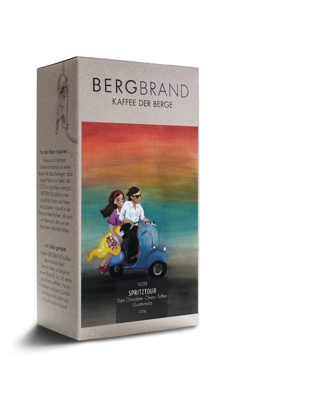 Etikett Bergbrand Filterkaffee Spritztour