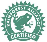 Logo Rainforest Alliance Zertifikat