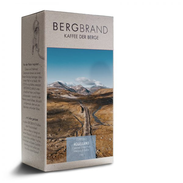 Etikett Bergbrand Espresso Hügelland