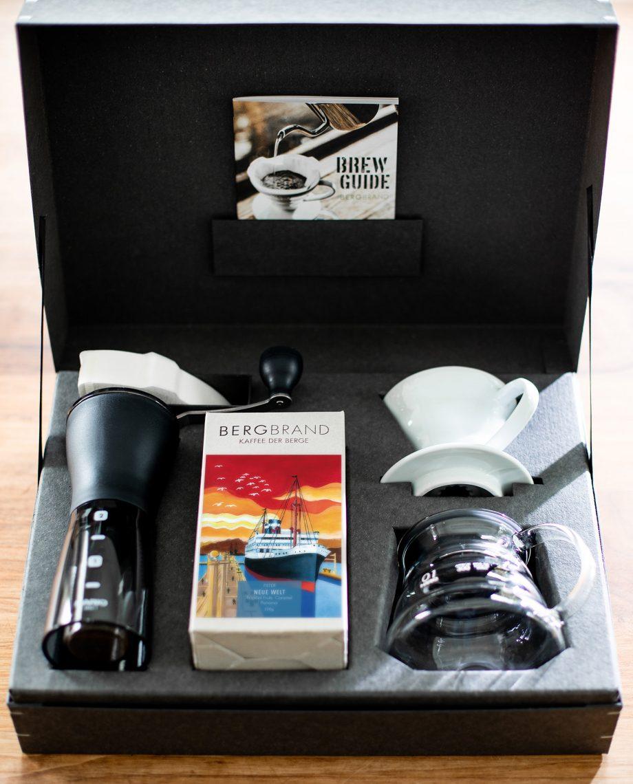 Geschenkbox Filterkaffee Innenansicht