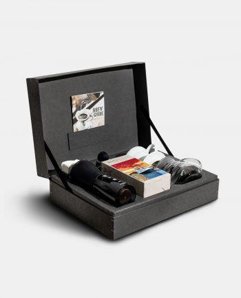 Geschenkbox Starterpaket Filterkaffee Innenansicht